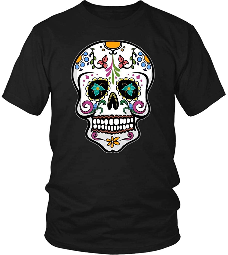 Skull T-Shirt for Men Women, Day of The Dead Mexican