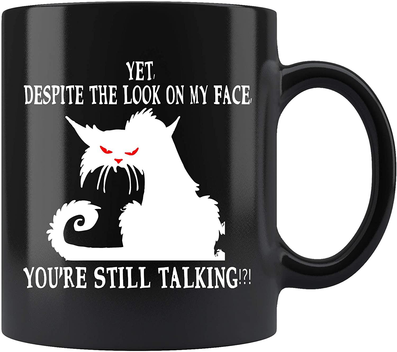 Grumpy Cat Sarcasm Coffee Mug. Grumpy Cat Sarcasm Funny Coffee Mug Gifts for Women Men 11 oz black Coffee Cup