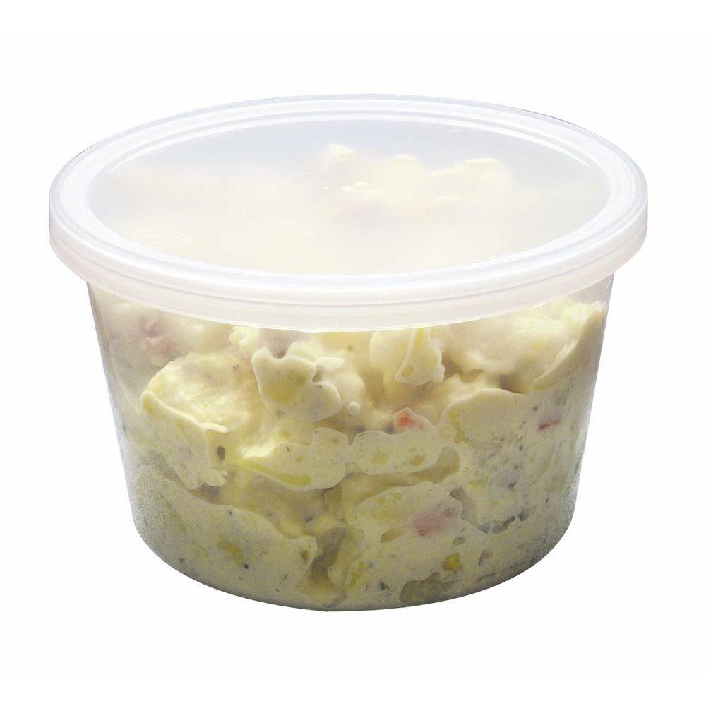 Disposable Plastic Deli Cups 16 oz Clear - 4 5/8