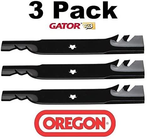 Oregon 3 Pack 96-615 Mower Blade Gator G3 Fits Dixon 532180054