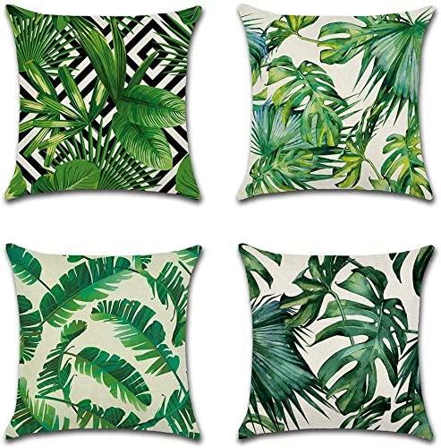 Rutildy 4PCS Hidden Zipper Closure Square Throw Pillow Cover Cushion Case Toss Pillowcase