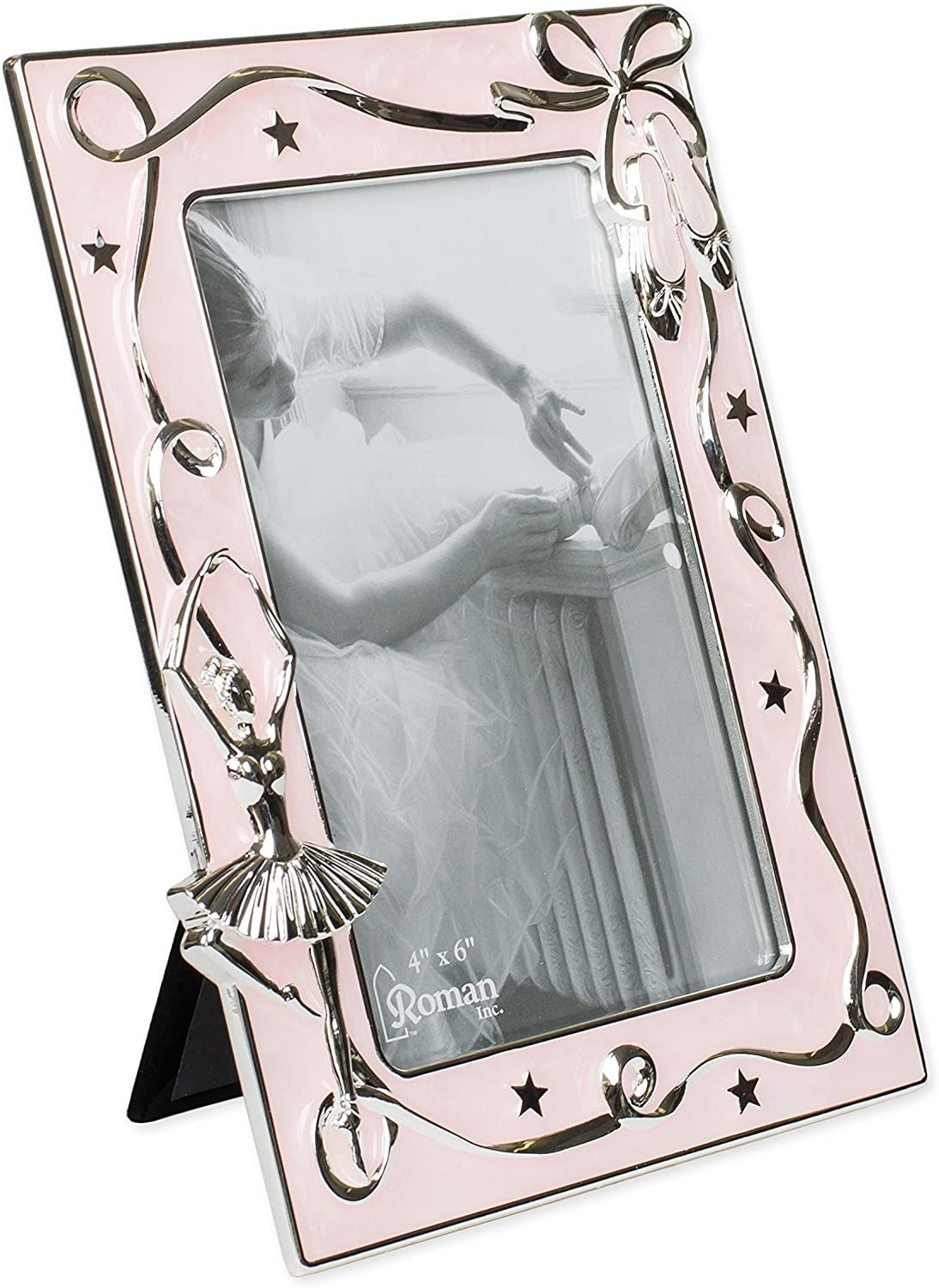 Ballerina Ballet Pink Ribbon 7.5 x 6 inch Zinc Alloy Table Top Picture Frame