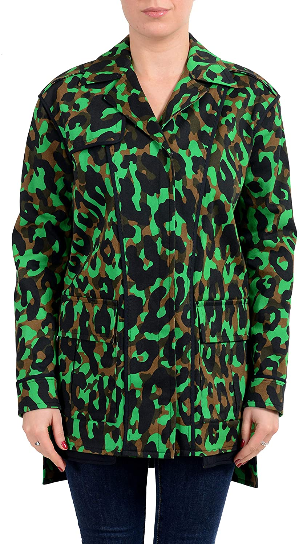 Versace Women's Multi-Color Button Up Jacket US XS IT 38