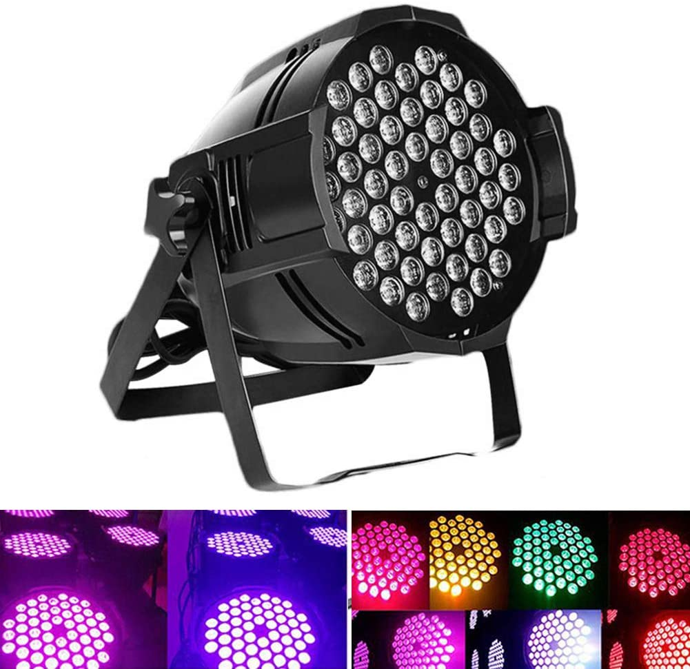 heaven2017 180W Aluminum Disco Strobe Party Light 54 LED Par Light Disco DJ KTV Pub Dance Stage Lamp Light Black