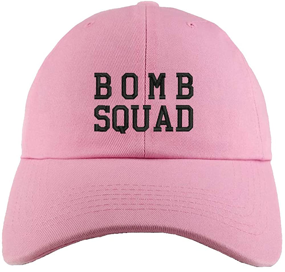 Weytff Dad Hat Baseball Cap Bomb Squad Pink Snapback Hat Sport Fishing Cap Women Men Youth