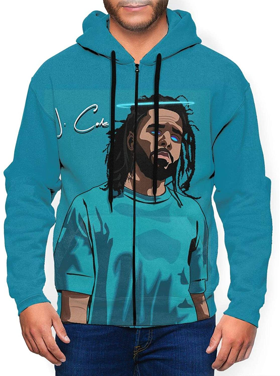 J. Cole Mens Full-Zip Fashion Hoodies Shirts Casual Hooded Sweatshirt Pullover Hooded Blouse