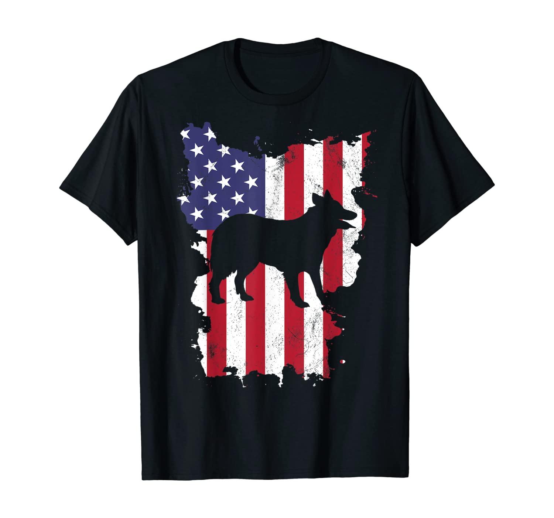 Border Collie Shirt 4th of July American USA Flag T-Shirt