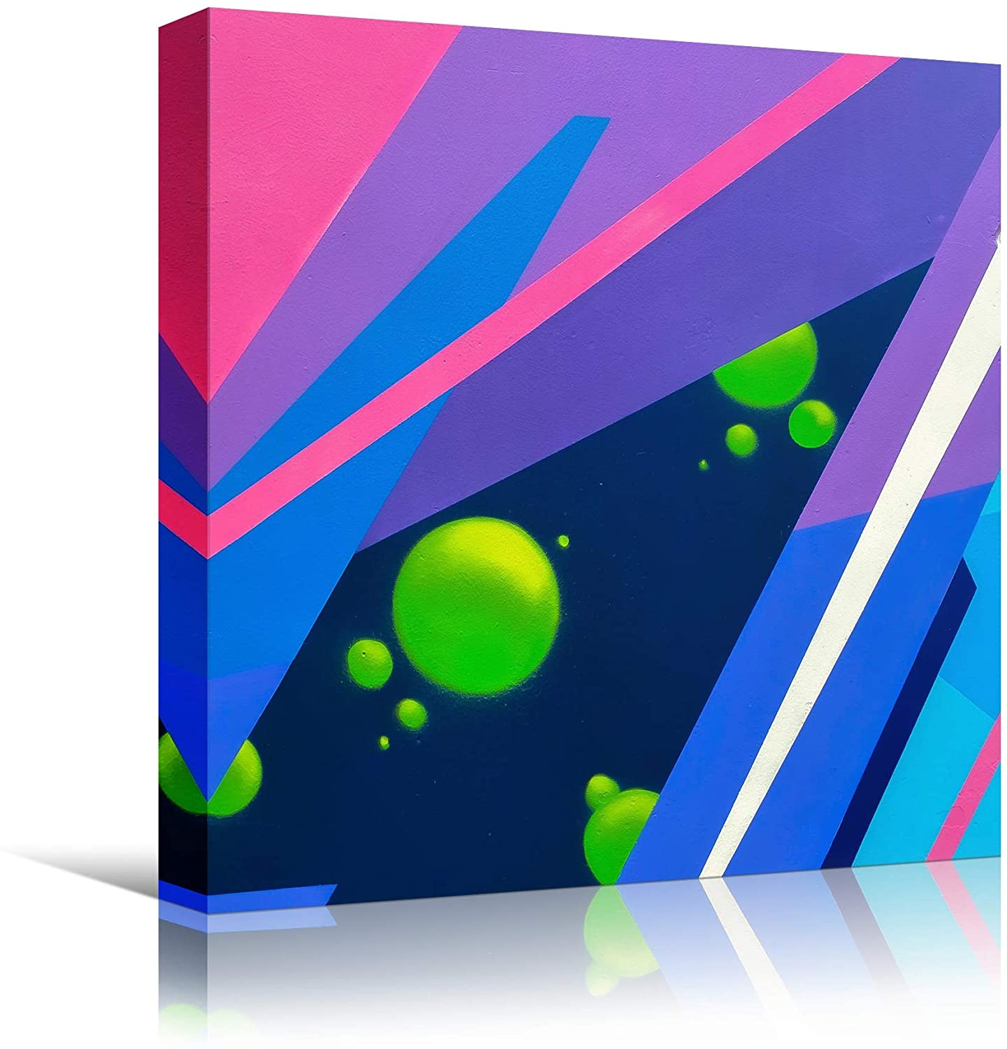 bestdeal depot Illumination XXII Abstract CloseUp Colorful Digital Art Lights Minimalist Multicolor Neon Wall Art Prints for Living Room,Bedroom Ready to Hang - 16x16 inches