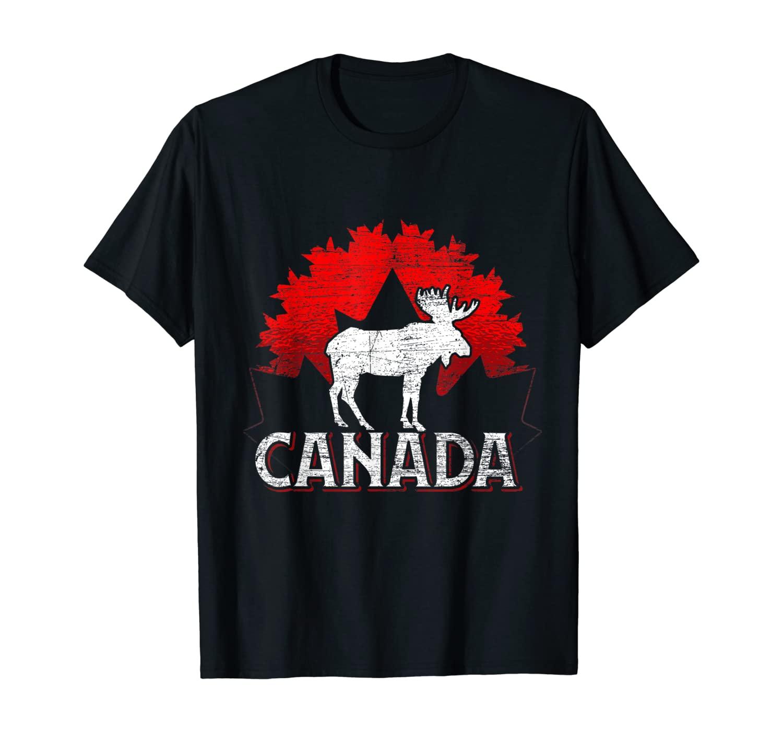 Canadian Moose Maple Leaf Animal Canada T-Shirt