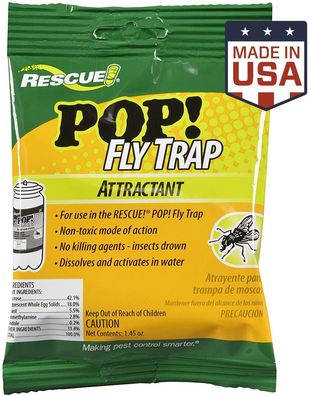 RESCUE! Outdoor Non-Toxic POP! Fly Trap Attractant Refill