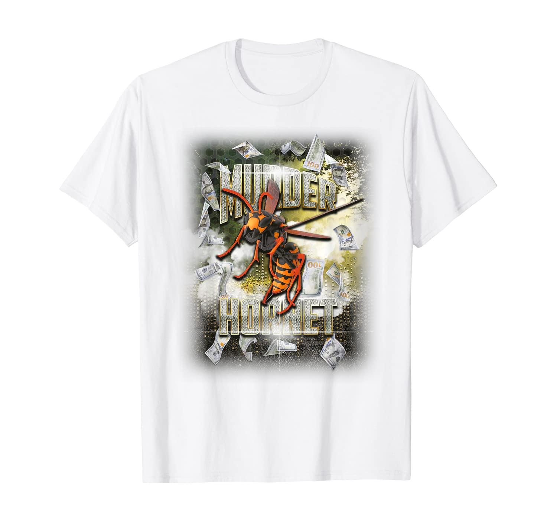 Halloween Murder Hornet Fun Funny Rapper Money And Bling Rap T-Shirt
