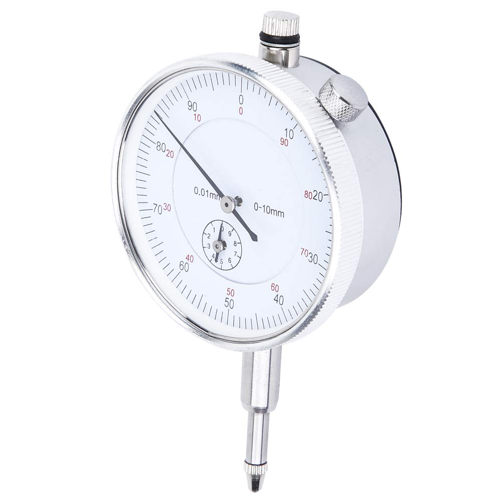 Dial Indicator, 0-10mm Range Dial Gauge, Wide Measuring Range 0.01mm for Industrial Tools Industrial Hardware