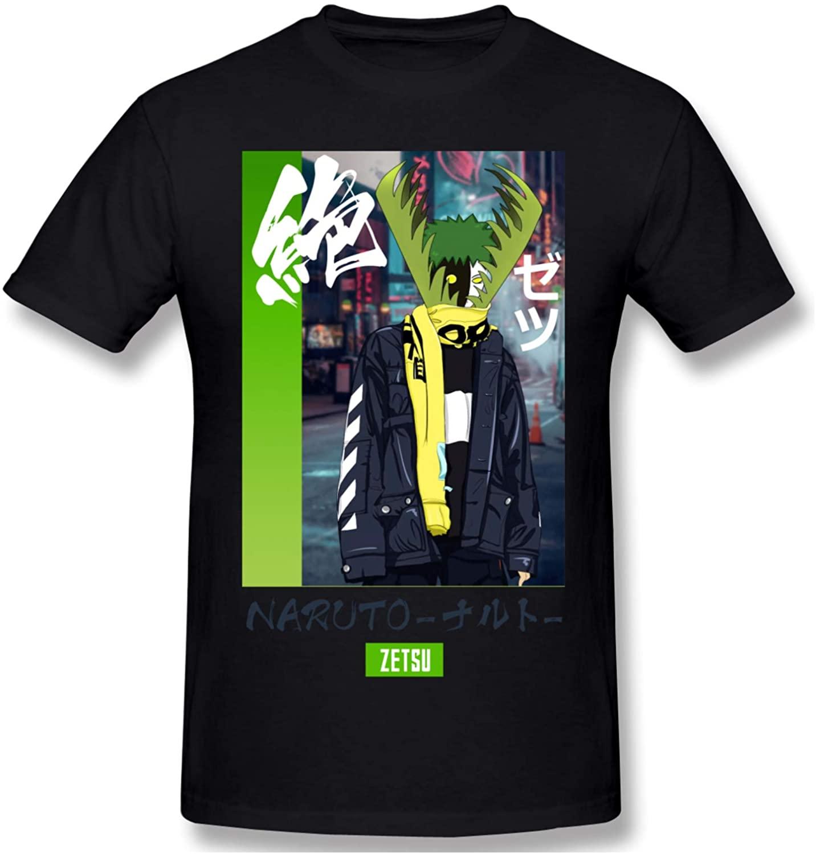 LMHBLTOP Mens Naruto Short Sleeve T-Shirt Black