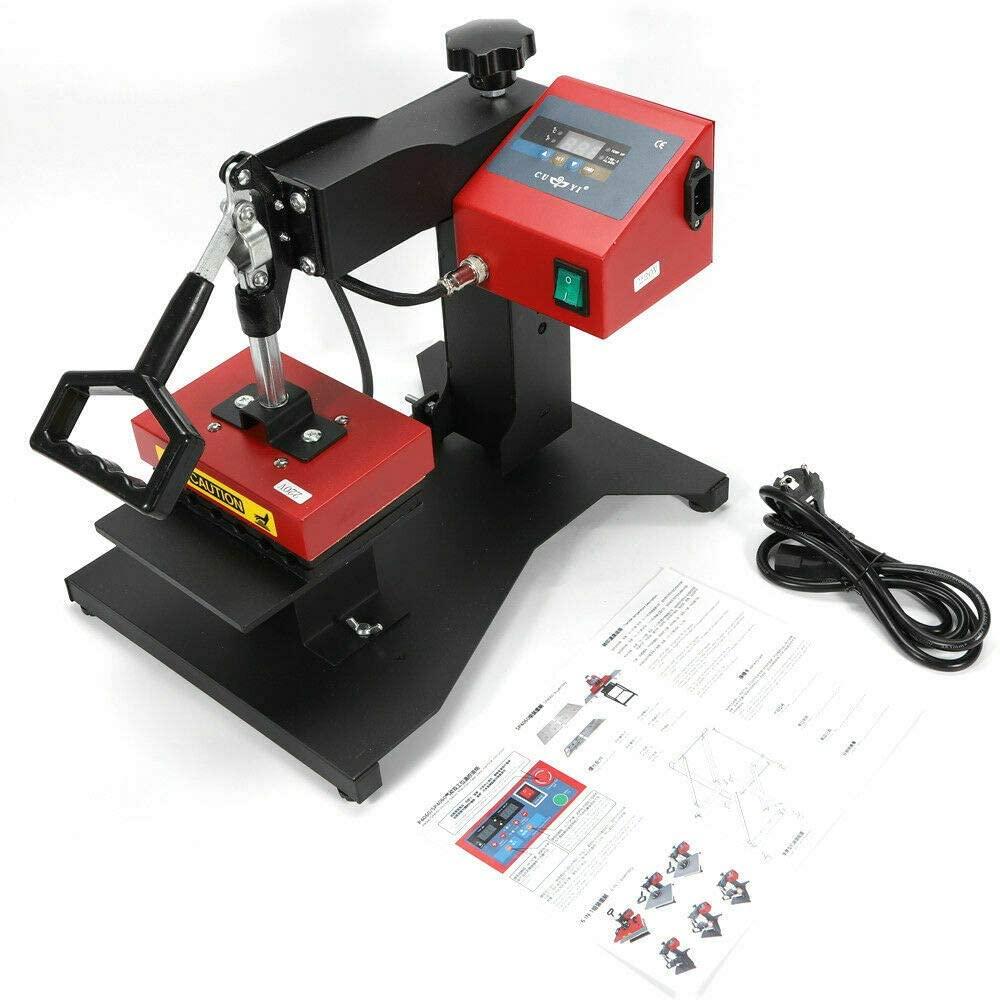 110V 6 in 1 Digital Pen Heat Press Machine Plastic Ballpoint Pen 3D Sublimation Transfer Logo DIY Printing Machine Swing Away