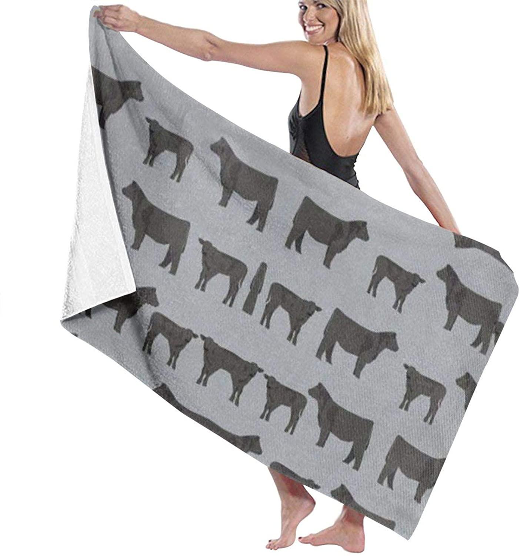 NiYoung Beach Towels Cattle and Cow Bath Towel Bath Wrap Shawl Bathrobe Microfiber Super Absorbent Large Use for Swimming Pool Seaside Cushion
