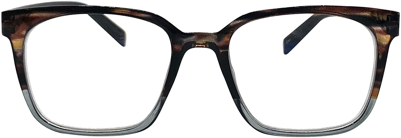 City Sights Eyewear Rochester Progressive Square No-Line Bifocal Reading Glasses
