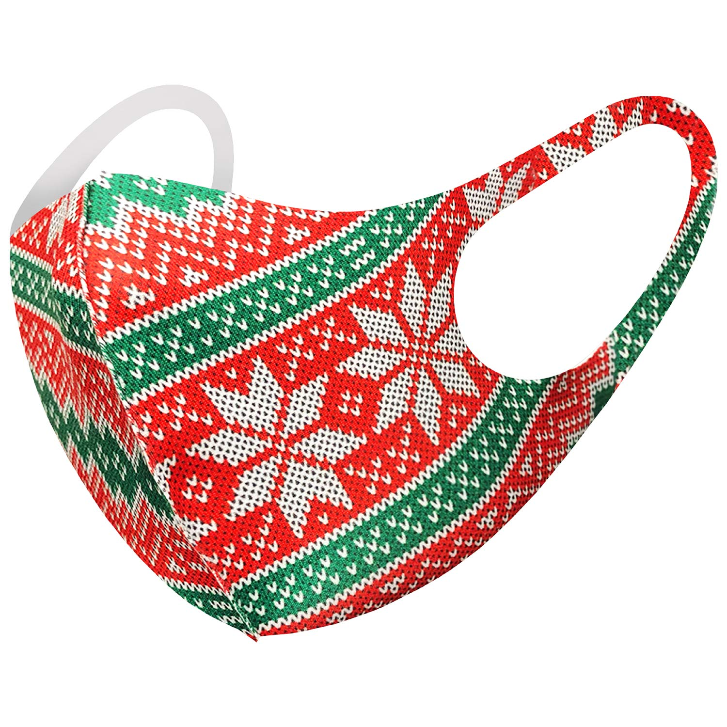 Christmas Snow Flake Reindeers Holiday Themed Unisex Adult Kids Fashion Face Covering, Reusable, Dust Proof, Washable (Pack of 1, Adult M68)