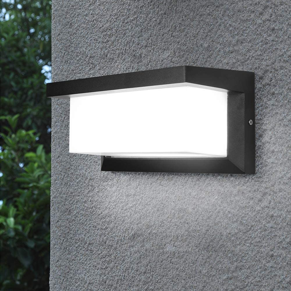 Sytmhoe Indoor Outdoor Wall Sconce Modern Porch Light Garden Wall Lamp, 20 Watts LED Wall Light Fixture for Corridor Garage Cafe Villas Hotel Lighting (3 Color Changeable)