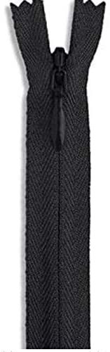 Invisible Nylon Black Zipper 20 Zip for Sewing Craft