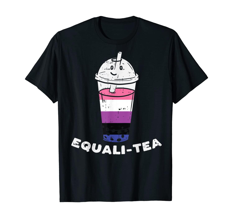 Equalitea Genderfluid Boba Bubble Milk Tea LGBT Pride Gift T-Shirt