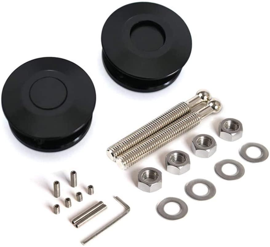 Quick Release Latch Clip Car Hood Pins Lock, Universal Latch License Plate Lock Clip Car Hood Pins Lock Kit, 73mm Diameter Push Button Quick Release Hood Bonnet Pins