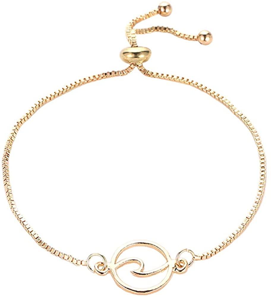 MUYUN Fashion Simple Ocean Wave Stretch Bracelet Charm Women Cuff Jewelry