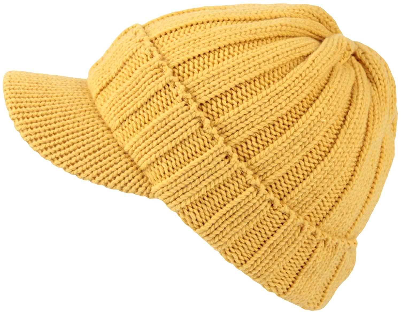 WITHMOONS Winter Ribbed Visor Knit Beanie Hat Warm Skully Baseball Cap SLQ1231