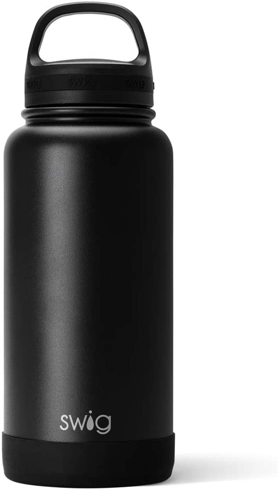 Swig Life 30oz Triple Insulated Stainless Steel Wide Mouth Water Bottle with Handle, Dishwasher Safe, Double Wall, Vacuum Sealed, Reusable Thermos (Multiple Patterns Available)