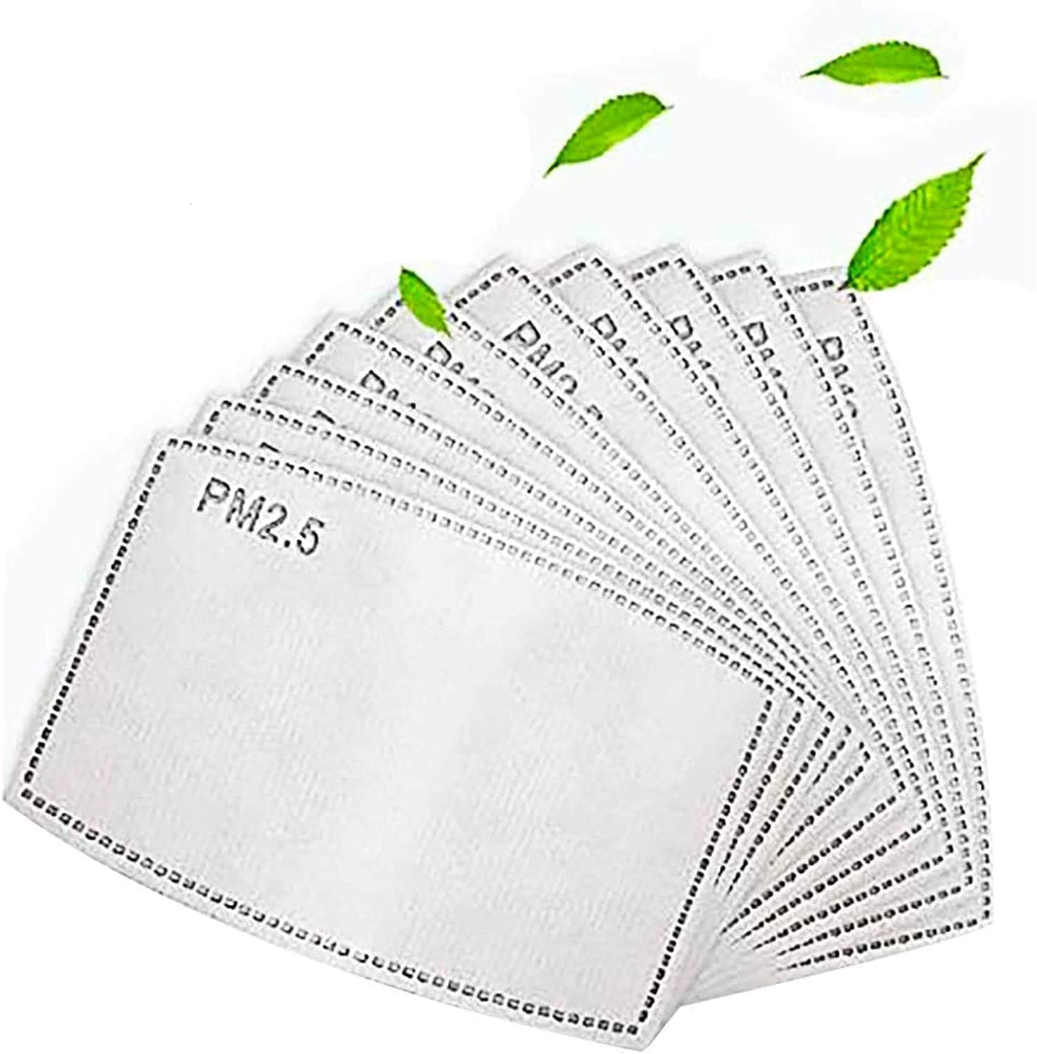 PM2.5 Activated Carbon Filter - 5 Layers Replaceable Anti Haze Filter PM2.5 Replaceable Filters (10PCS)