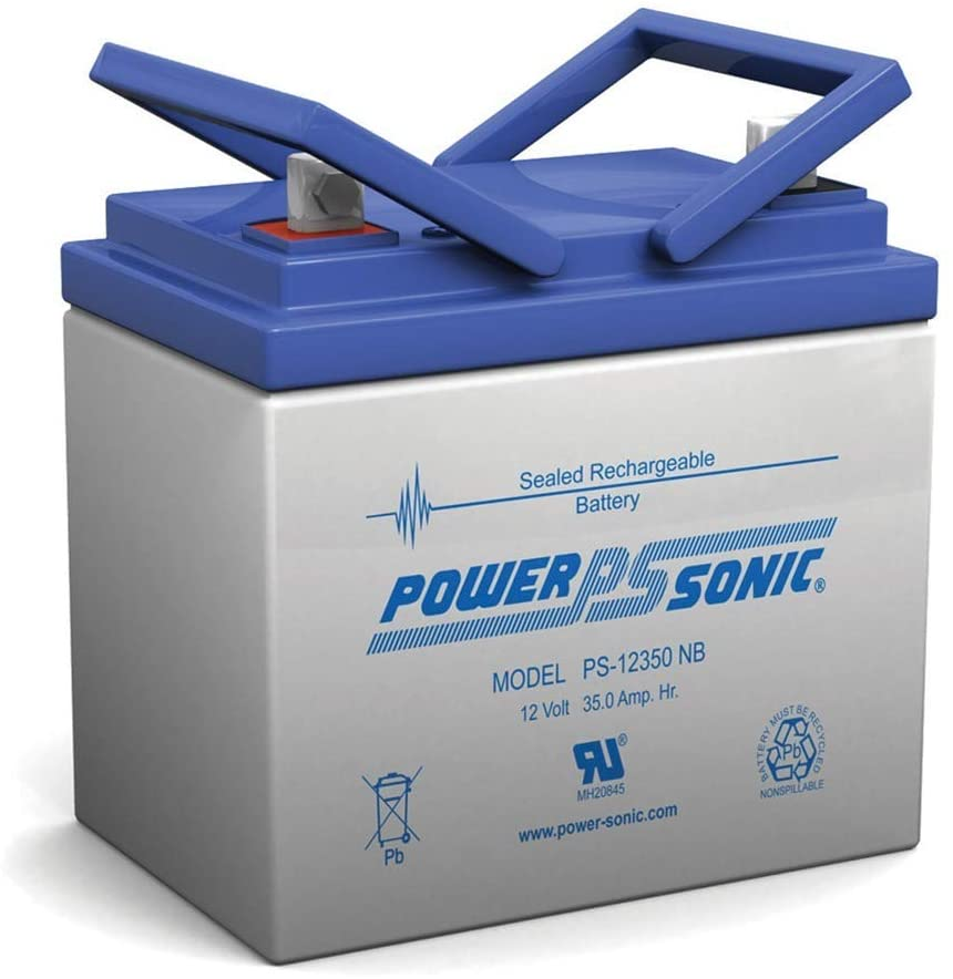 Power Sonic 12V 35Ah U1 AGM Solar Battery Also Replaces 33Ah, 34Ah, 36Ah