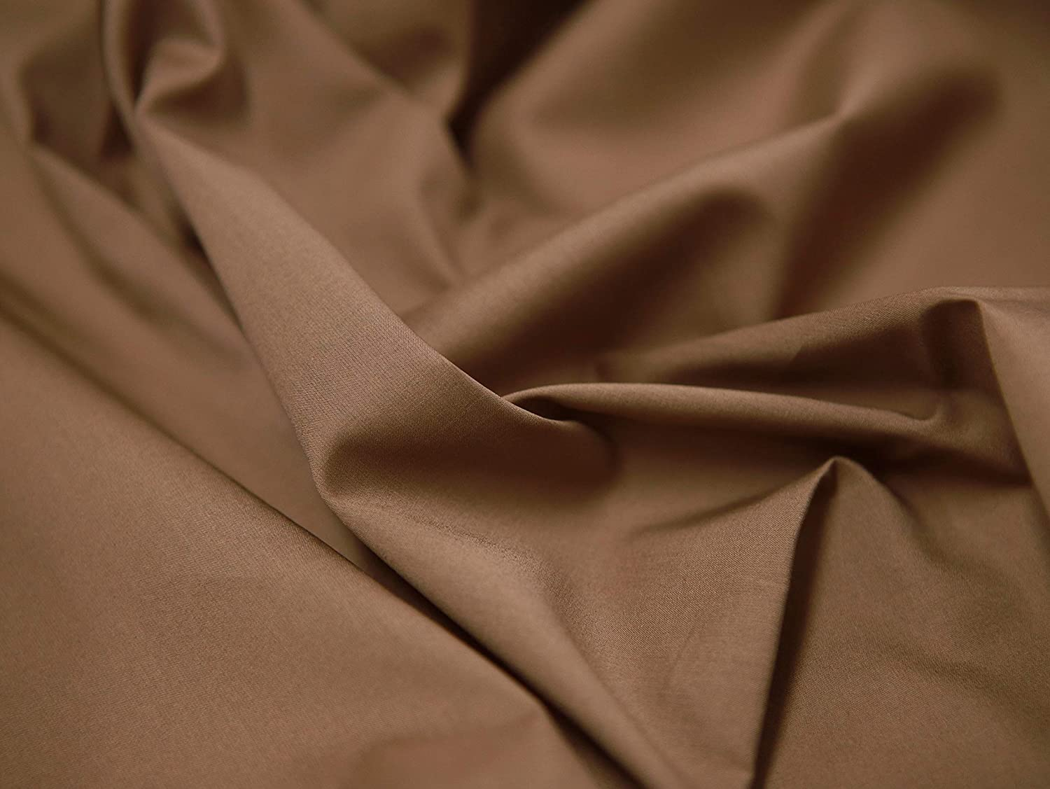 COTTONVILL 100COUNT Cotton Solid RevLawn Fabric (2yard, 19-Cocoa)