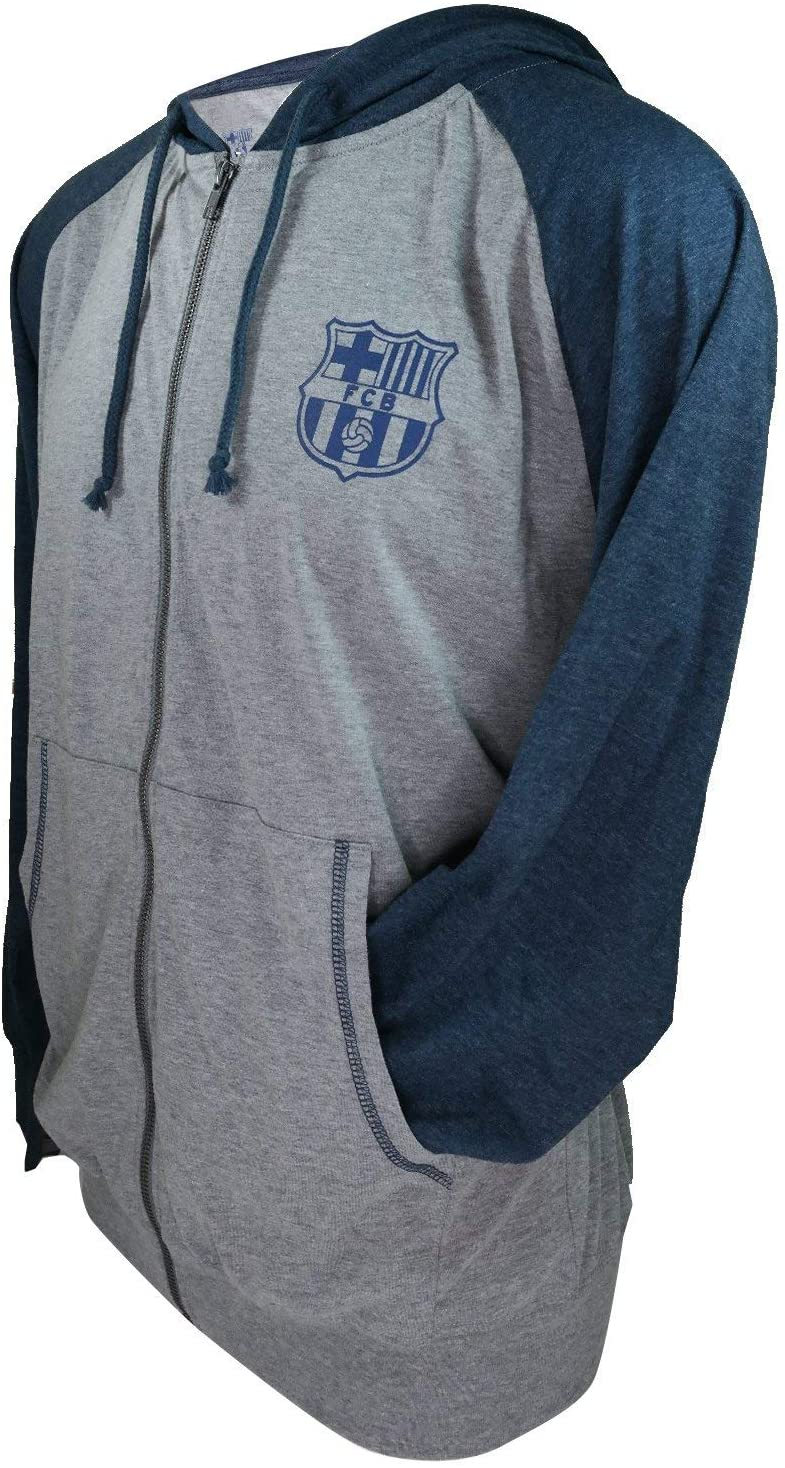 Icon Sports Group FC Barcelona Zipper Official Soccer Summer Hoodie 002