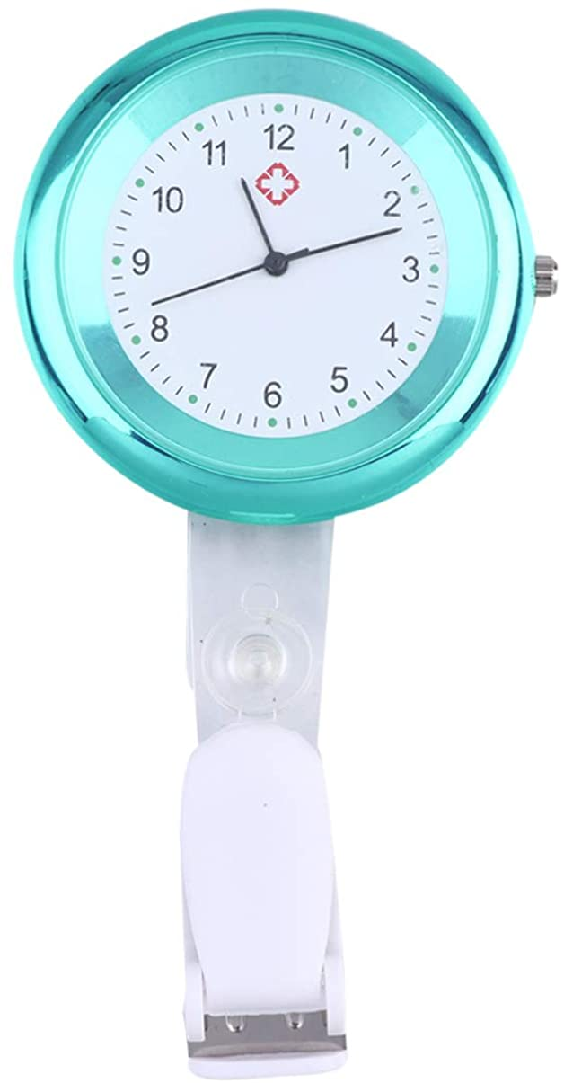 NICERIO Nurse Lapel Watch - Quartz Hanging Watch Pocket Watch Nurses Watch for Birthday Mothers Day Gift (Green)