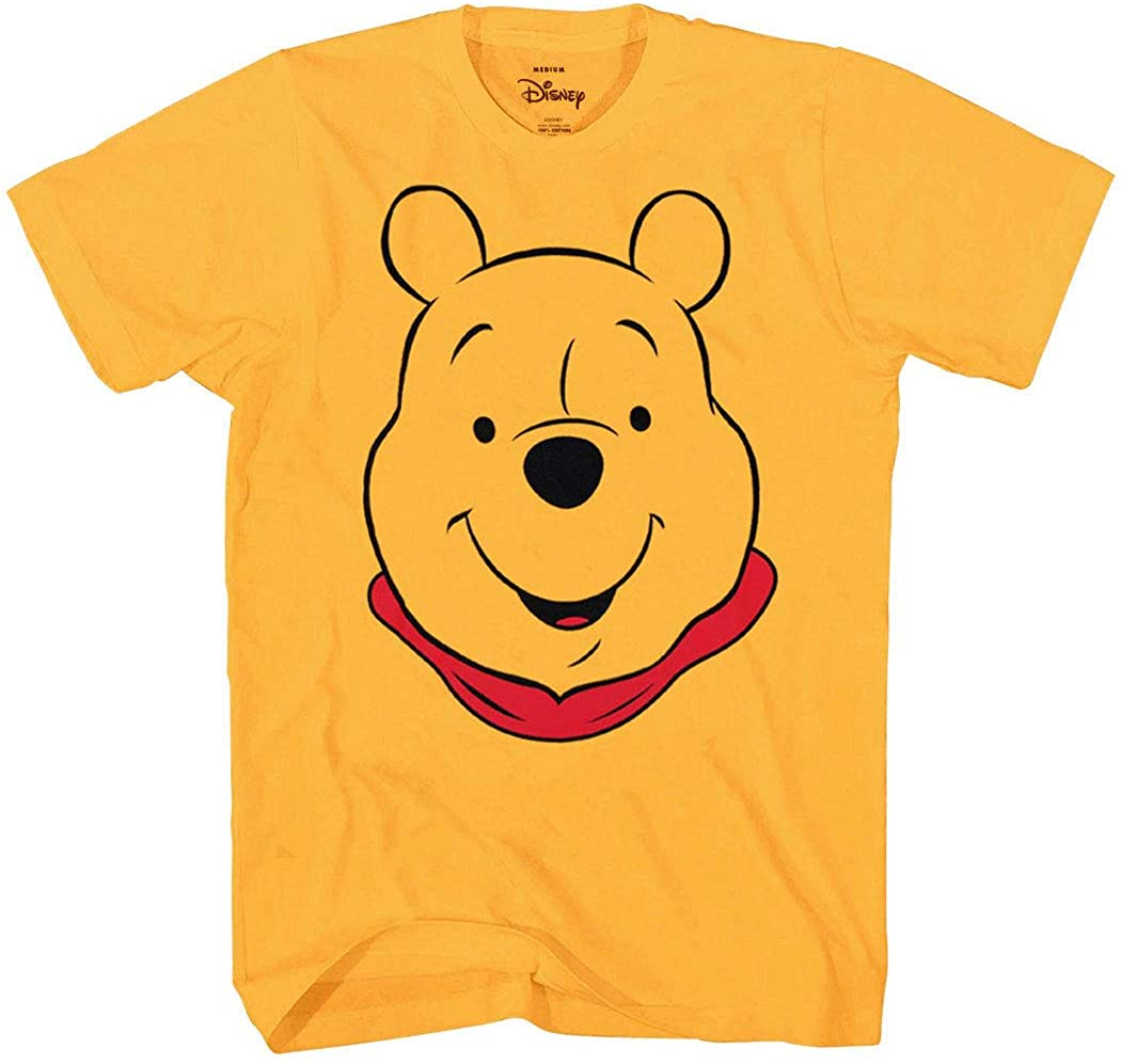 Winnie the Pooh Disney Character Face Costume T-Shirt (Winnie the Pooh, Gold, Small)