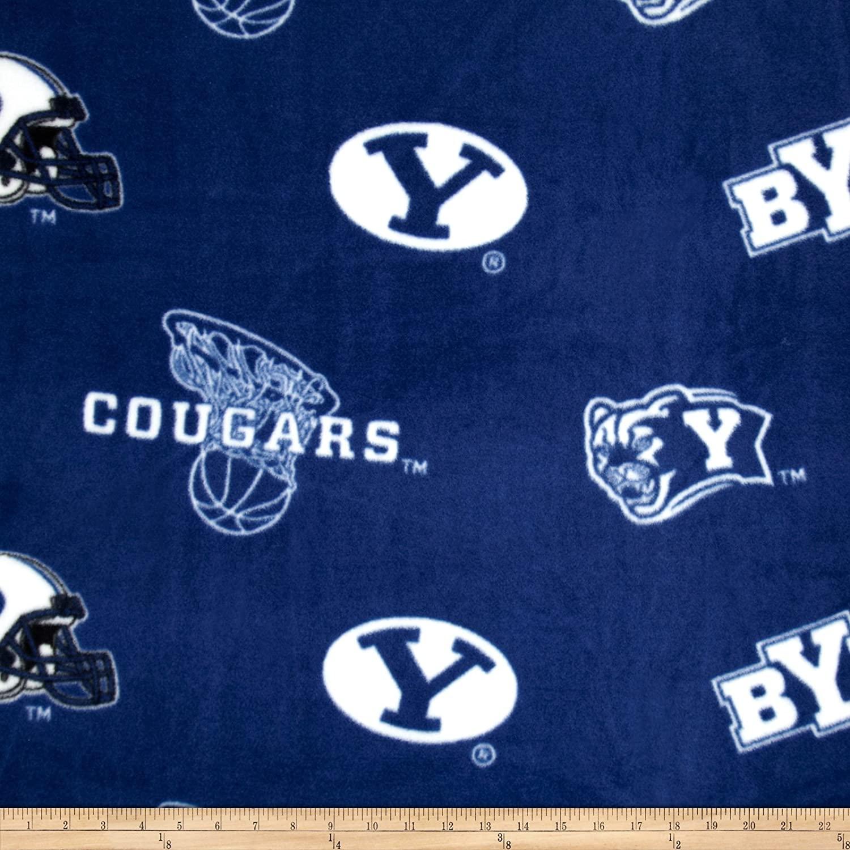Collegiate Fleece BYU Fabric By The Yard