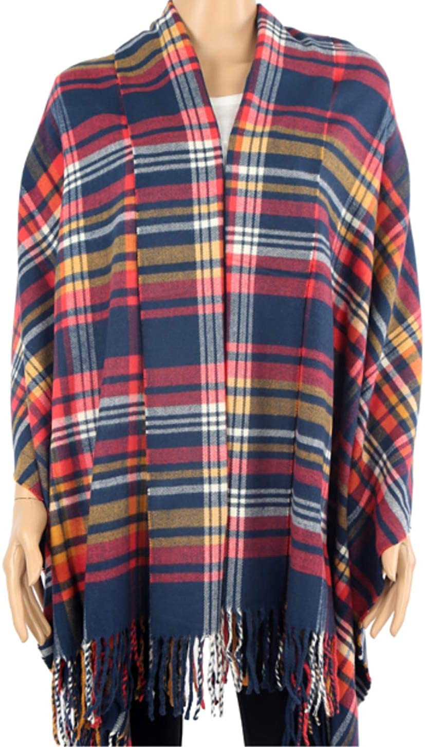 2 PLY 100% Cashmere Scarf 28X80 Oversized BLANKET Collection Made in Scotland Wool Solid Plaid