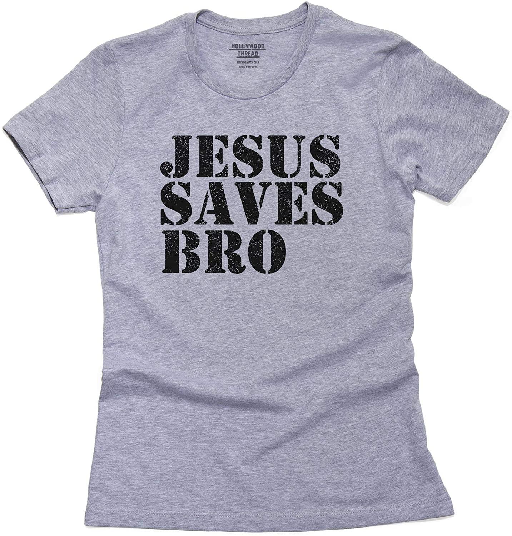 Jesus Saves Bro - Modern Christian Christ Women's Cotton T-Shirt