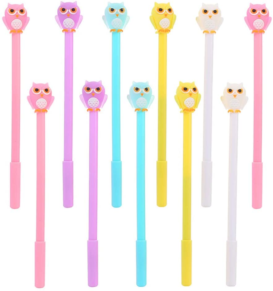TomaiBaby 11pcs Christmas Pens Novelty Animal Ink Pens Owl Ballpoint Pens for Christmas Stocking Stuffers Gift Stationery Supplies (Random Style)