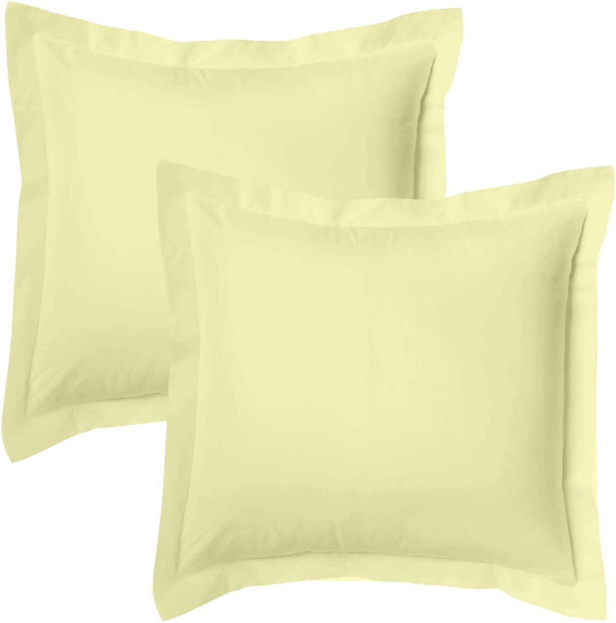 Premium Decorative | Body Pillow Sham Sized 20 by 56 | Envelop Closure | 100% Egyptian Cotton 600 TC, Ivory Solid Set of 1