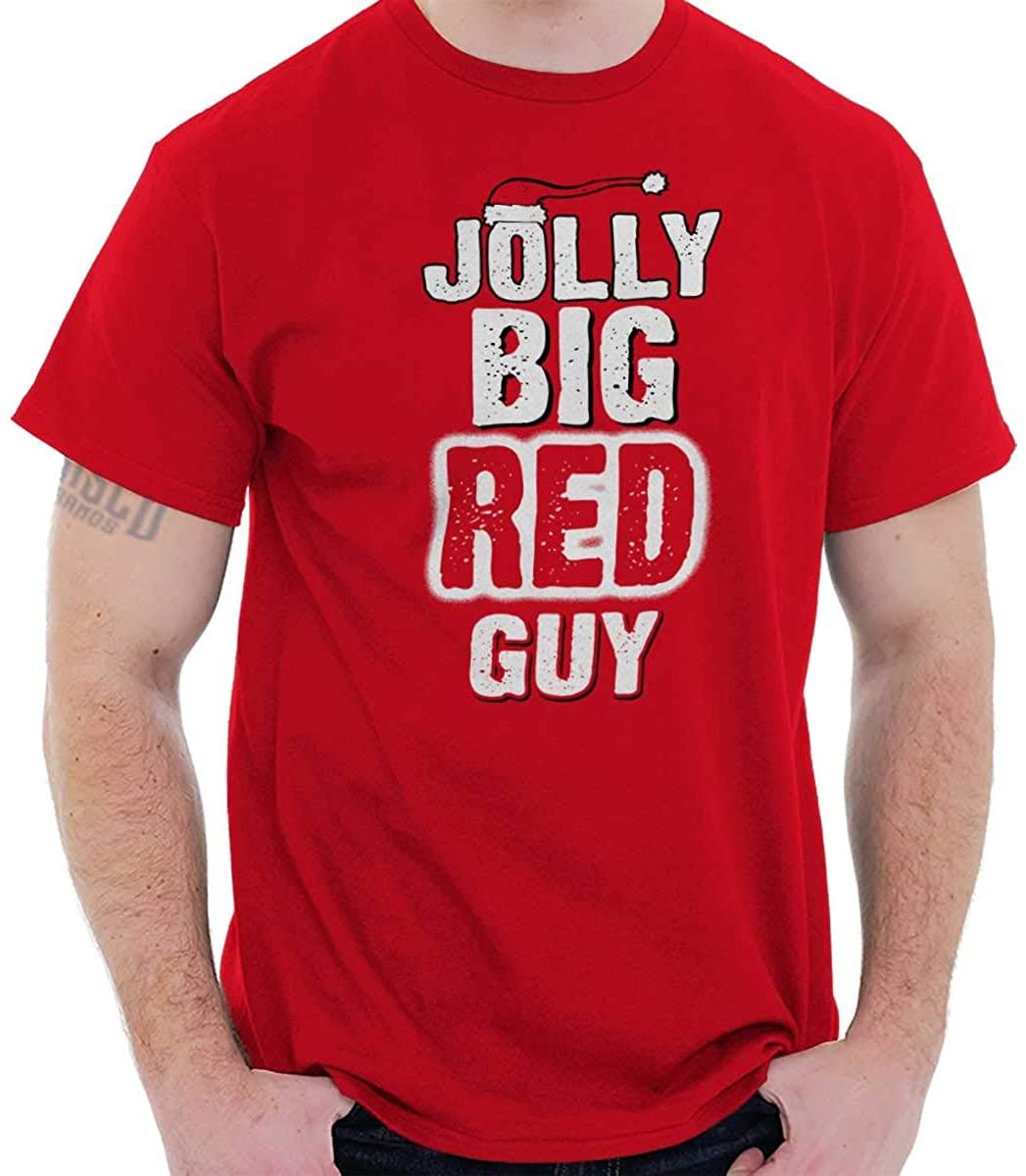 Jolly Big Red Guy Christmas T Shirt for Men