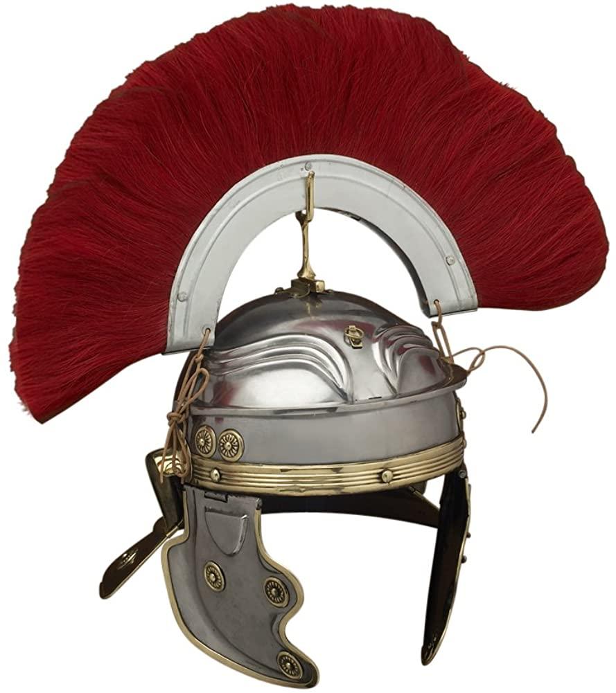 Armor Venue Gallic 'H' Centurion Roman Helmet Deepeeka - One Size - Metallic Armour