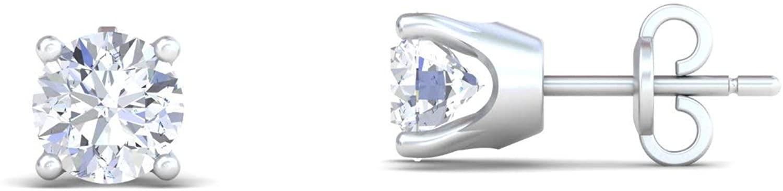 Mantra Jewel Certified Diamond Earring For Womens 3.5 CT Moissanite Diamonds (VVS1 Clarity, E-F Color) Round Brilliant Shape Cut