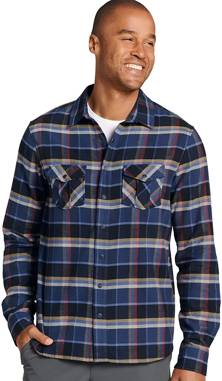Jockey Men's T-Shirts Plaid Flannel Shirt