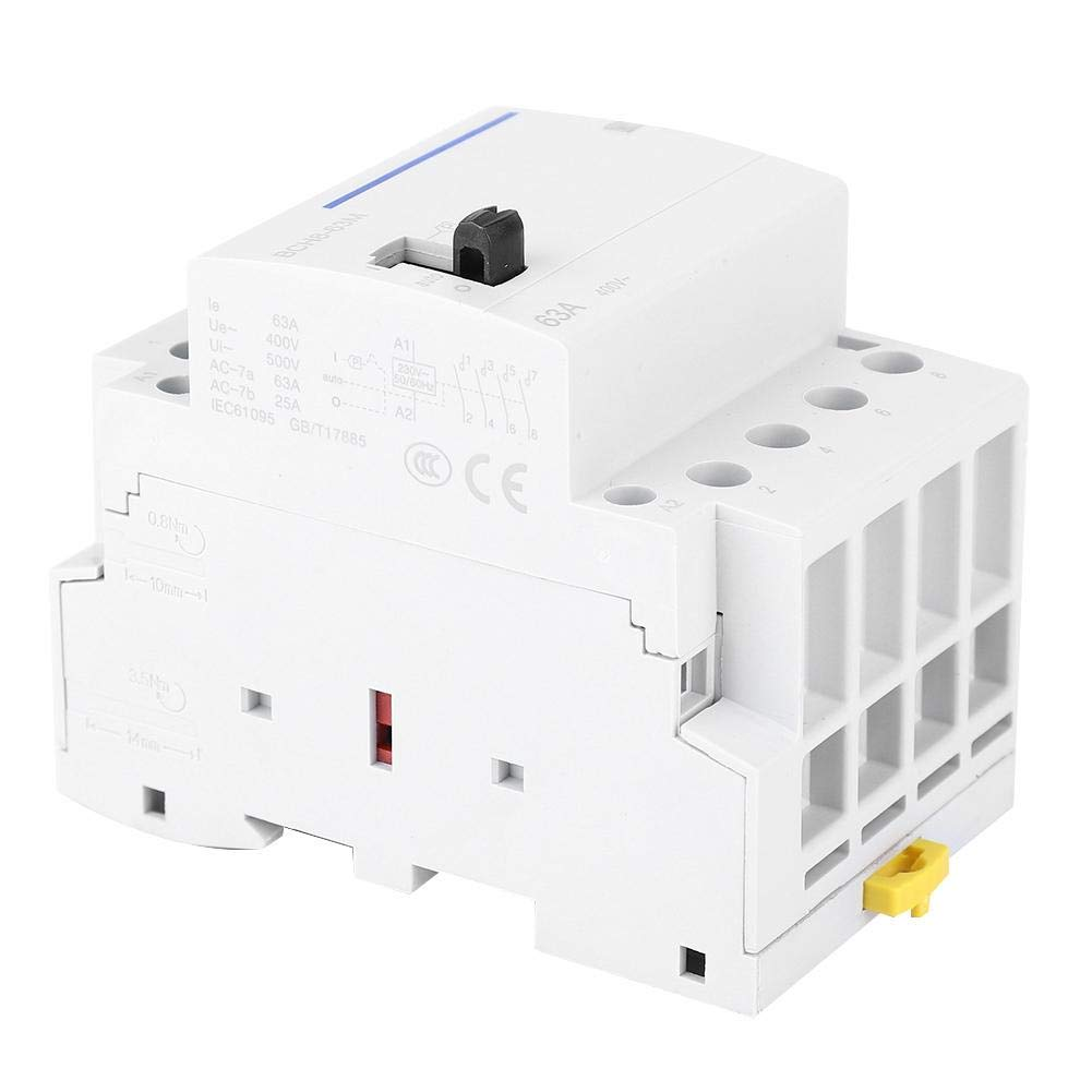 Leakage Circuit Breaker, Circuit Breaker, 63A 230V BCH8-63M Power Distribution System Protection for Building Lighting(4NC)