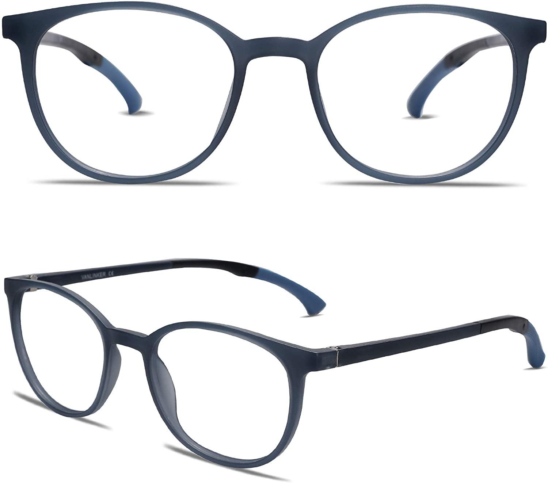 VANLINKER Blue Light Blocking Glasses - Anti glare Round Non Prescription Computer Eyewear for Men Women VL9112