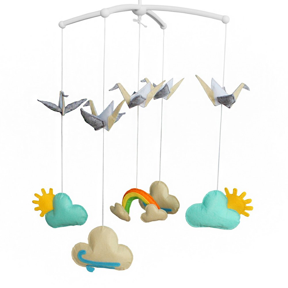 Crib Hanging Bell Musical Toy to Keep Baby Calm, Cloud, 02