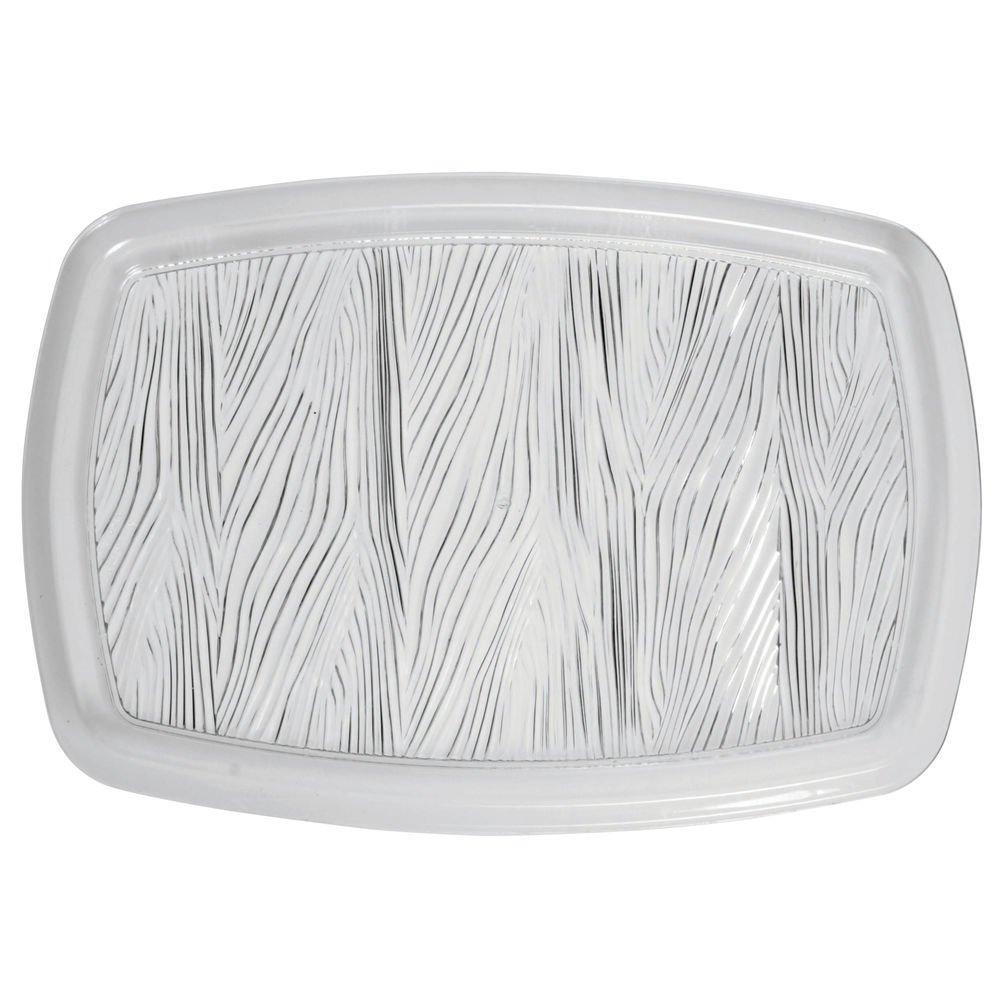 Crystal Tray Rectangular Wheat Pattern Heavyweight Plastic - 18 L x 12 W