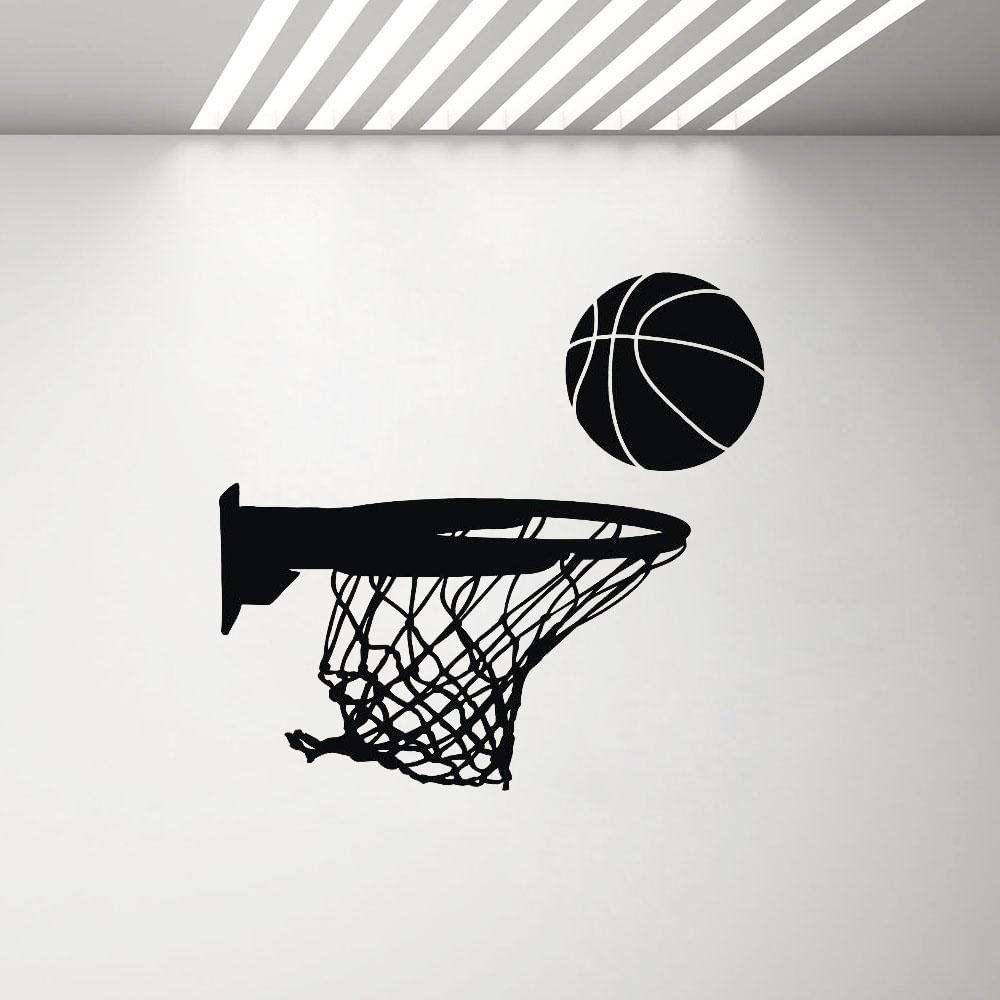 Basketball Hoop Vinyl Wall Stickers Sports Decor Garage Decoration Wall Decal Childrens Bedroom Boy Art Stickers 44X42Cm