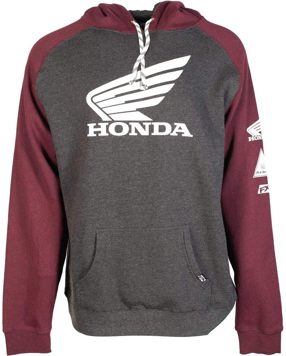 Factory Effex Honda Wing Hoody (XX-Large) (Charcoal/Burgundy)