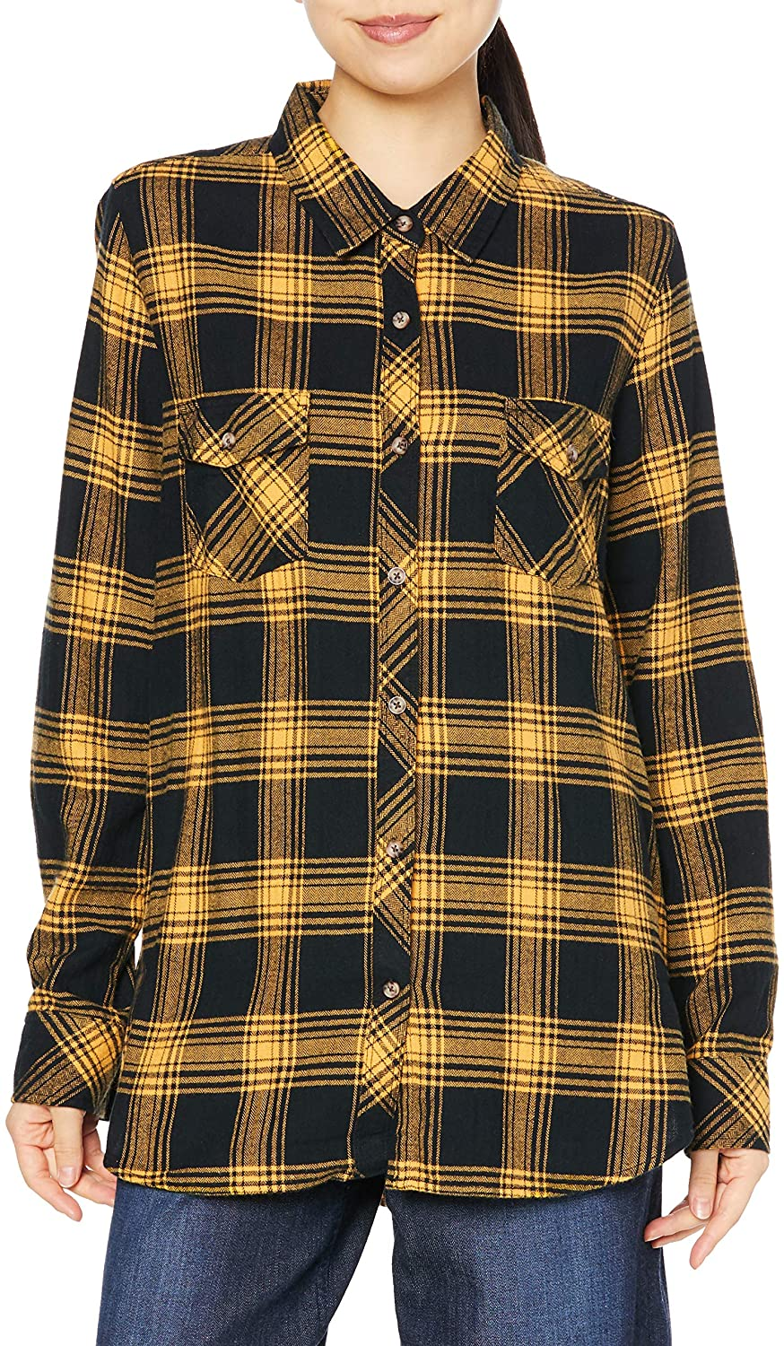 Volcom Women's Getting Rad Plaid Long Sleeve
